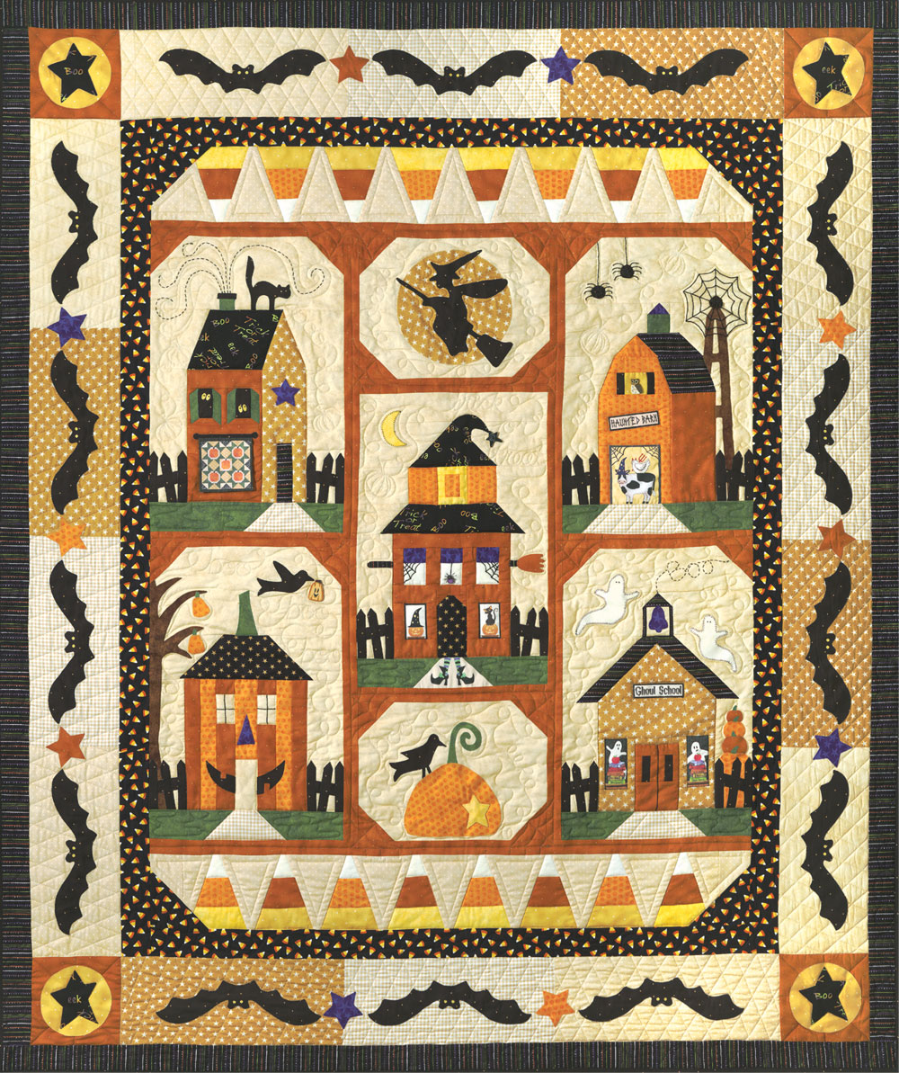 paper pieced halloween quilt blocks